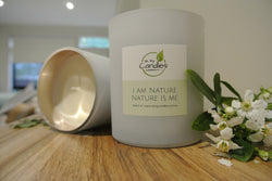 100% Soy Candle - Matt White/Rose Gold Jar