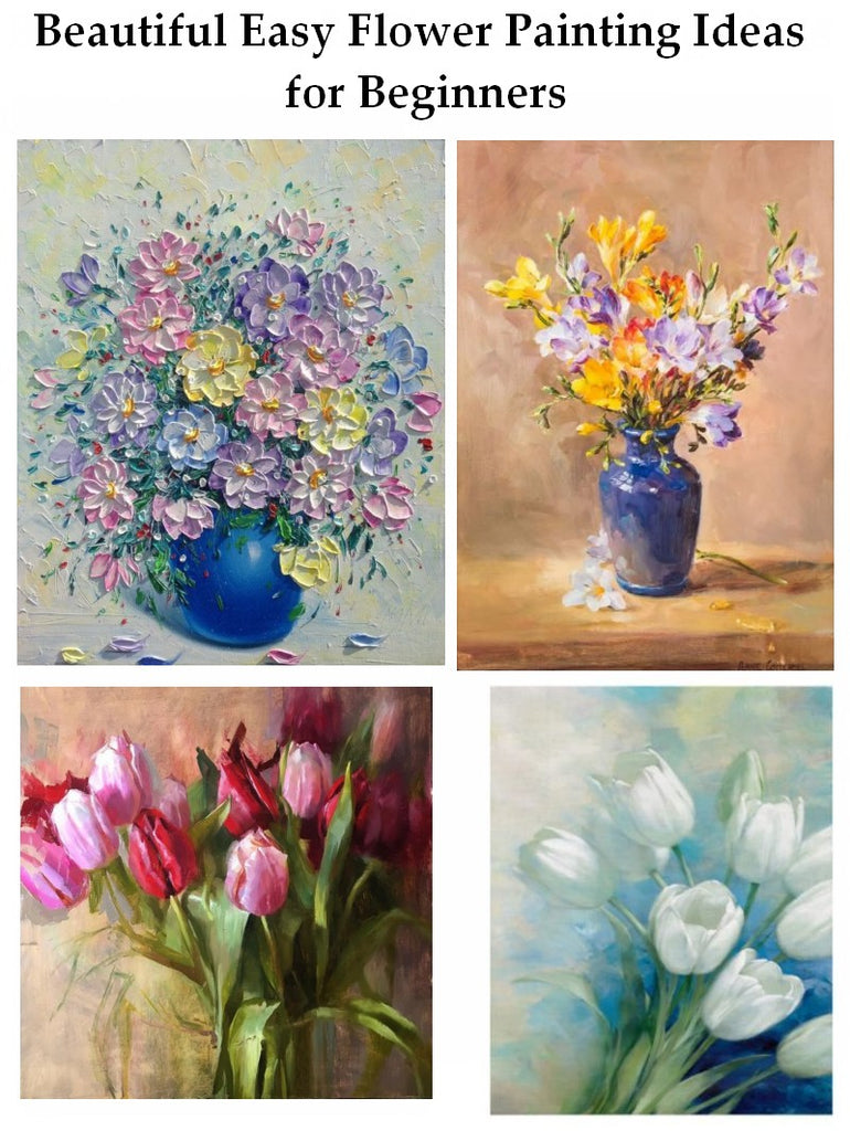 Easy Flower Painting for Beginners, Acrylic Flower Paintings, Beautiful Flower Painting Ideas