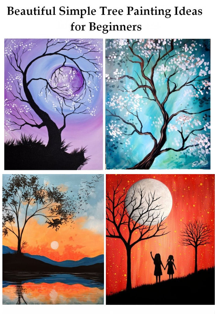 Easy Tree Painting Ideas for Beginners, Simple Landscape Painting Ideas, Beautiful Landscape Painting Ideas