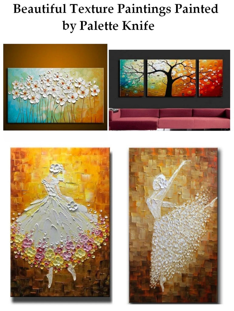 Beautiful Texture Painting, Acrylic Texture Paintings, Flower Texture Painting, Landscape Texture Paintings