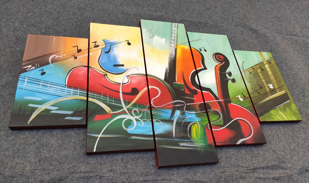 Painting Samples of Music Painting, Acrylic Painting on Canvas, Paintings for Living Room
