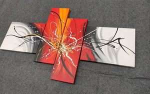 Painting Samples of 4 Piece Painting, 4 Piece Wall Art, 4 Panel Canvas Painting, Modern Art Painting