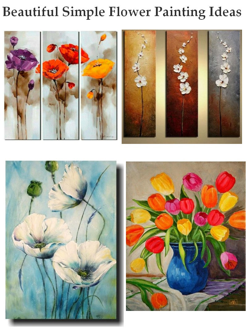 Acrylic Flower Paintings Abstract Flower Painting Easy Flower Painti Largepaintingart Com