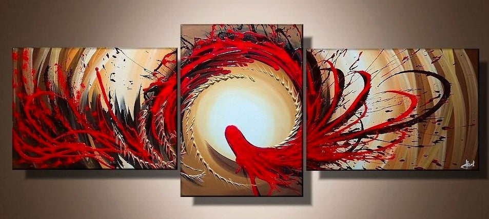 3 Piece Painting, 3 Piece Wall Art, 3 Piece Abstract Painting, 3 Piece Acrylic Painting