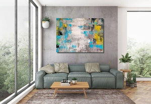 Wall Painting Acrylic Abstract Art, Extra Large Paintings, Modern Abstract Acrylic Painting, Living Room Wall Painting - LargePantingArt.com