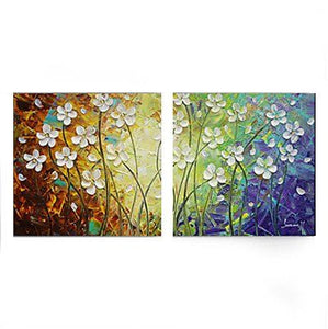 Flower Painting, Acrylic Flower Paintings, Bedroom Wall Art Painting, Modern Contemporary Paintings - LargePantingArt.com