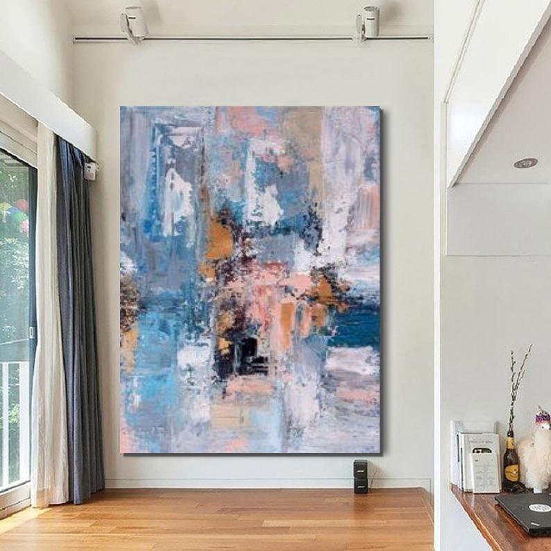 Large Acrylic Painting, Huge Paintings for Bedroom, Hand Painted Wall Art Painting, Modern Abstract Artwork - LargePantingArt.com