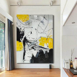 Large Contemporary Canvas Painting, Modern Acrylic Artwork, Wall Art for Living Room, Hand Painted Wall Art Painting - LargePantingArt.com