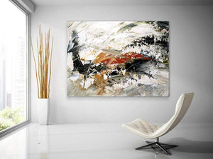 Extra Large Paintings, Abstract Acrylic Painting, Living Room Wall Painting, Modern Abstract Art - LargePantingArt.com