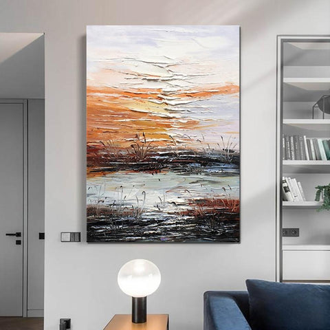 Abstract Canvas Painting, Modern Paintings for Living Room, Hand Painted Wall Art, Huge Painting for Sale - LargePantingArt.com