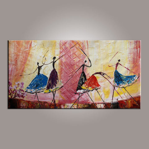 Ballet Dancer Art, Canvas Painting, Abstract Painting, Large Art, Abstract Art, Hand Painted Art, Bedroom Wall Art - LargePantingArt.com