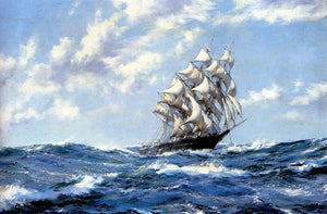 Oil Painting, Canvas Art, Canvas Painting, Seascape Painting, Wall Art, Large Painting, Dining Room Wall Art, Canvas Oil Painting, Canvas Art, Sailing Boat at Sea - LargePantingArt.com