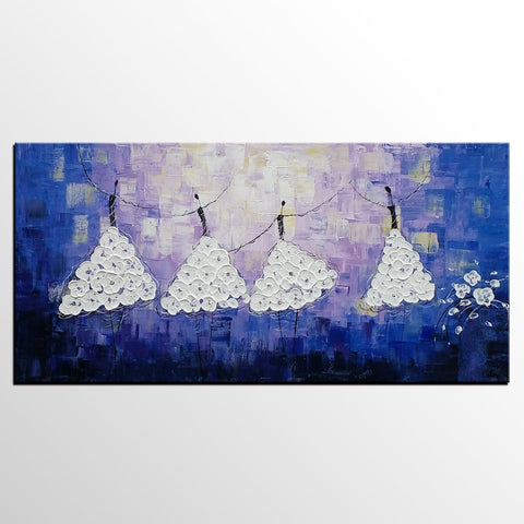Acrylic Abstract Art, Ballet Dancer Painting, Contemporary Artwork, Art for Sale, Simple Abstract Painting - LargePantingArt.com
