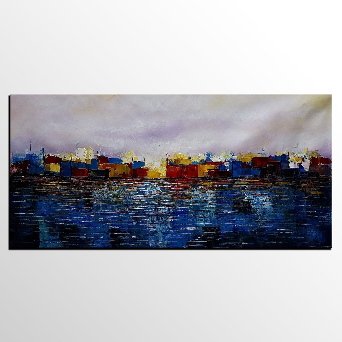 Abstract Artwork, Contemporary Wall Art, Modern Art, Cityscape Painting, Art for Sale, Abstract Art Painting, Living Room Wall Art, Canvas Art - LargePantingArt.com