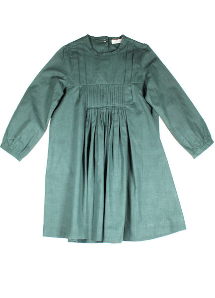 Button Back Dress - Forest Green