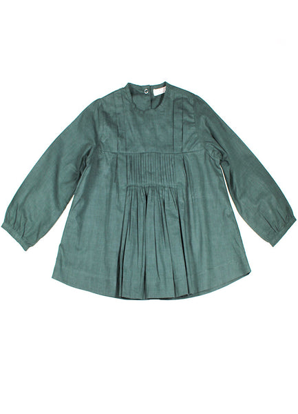 Button Back Blouse - Forest Green