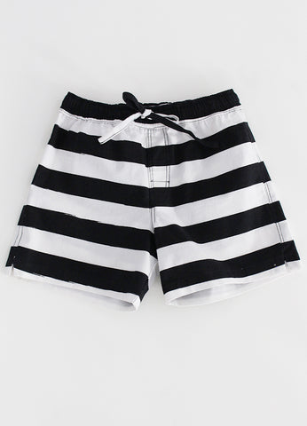 Beach  Shorts -Black Stripe YD