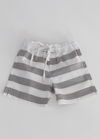 Beach Shorts - Grey Stripe