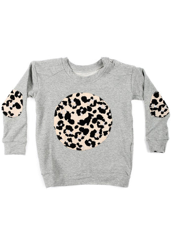 Patch Pullover - Marle + Leopard Patches