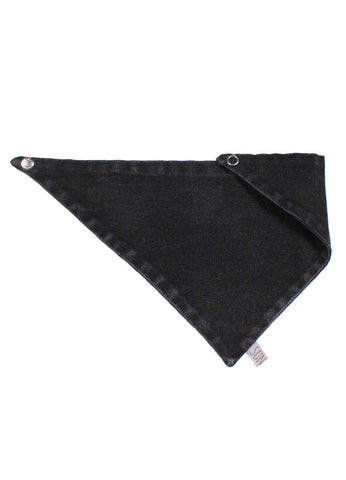 Reversible Cravat Bib - Double Denim Black Wash