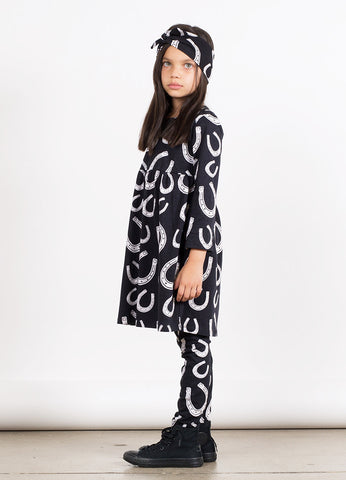 Long Sleeve Empire Line Dress - Horse Shoe YD