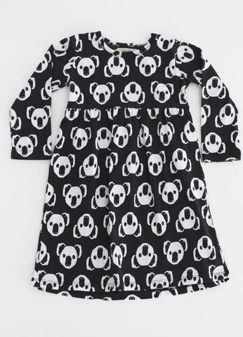 Long Sleeve Empire line dress -Koala Gang YD