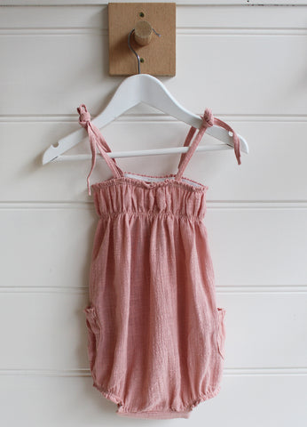 Tie Up Playsuit - Musk