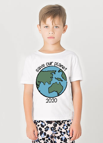 Save Our Planet (Aussie Bushfire Charity) Classic Tee - Milk