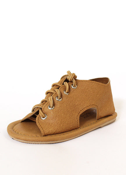 Sunday The Label - Lace up Sandal in Vintage Tan