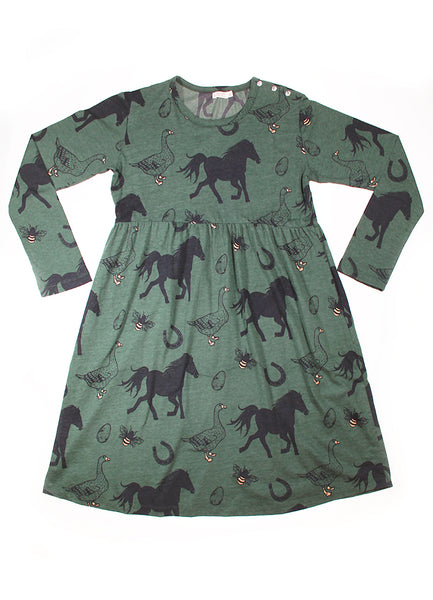 Womens LS Empire Line Dress - Animal Farm YD