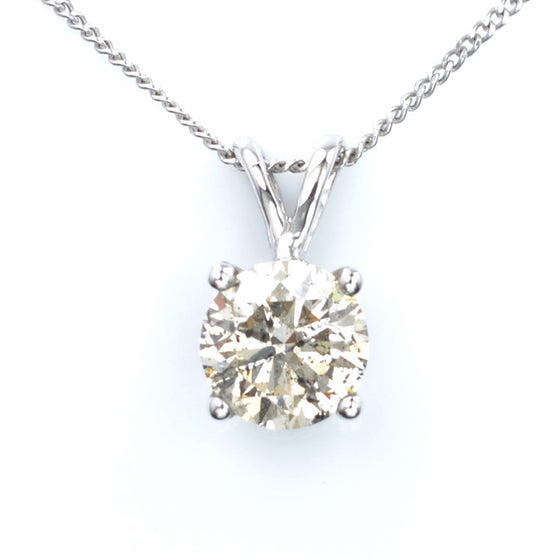 18ct White Gold Diamond Pendant