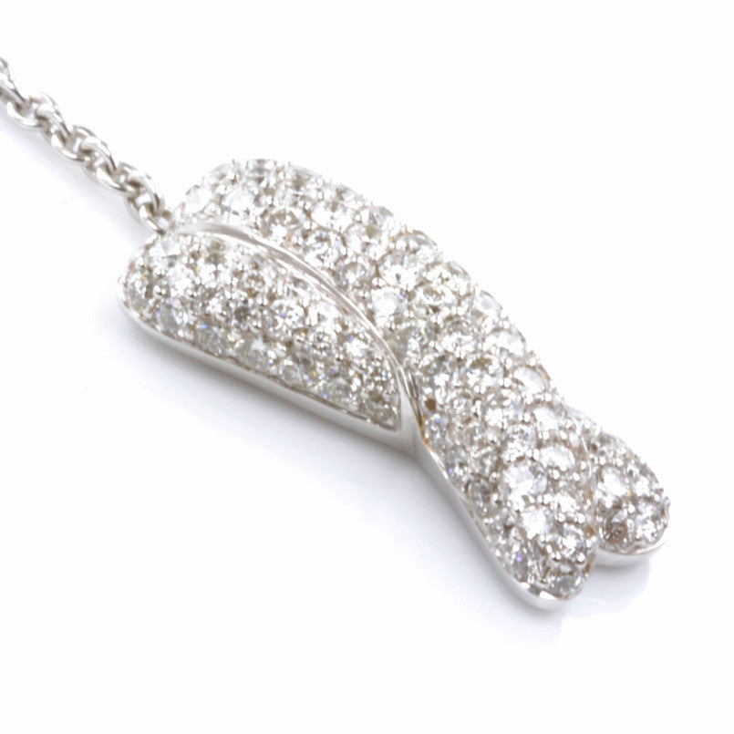 18ct White Gold Diamond Set Necklace