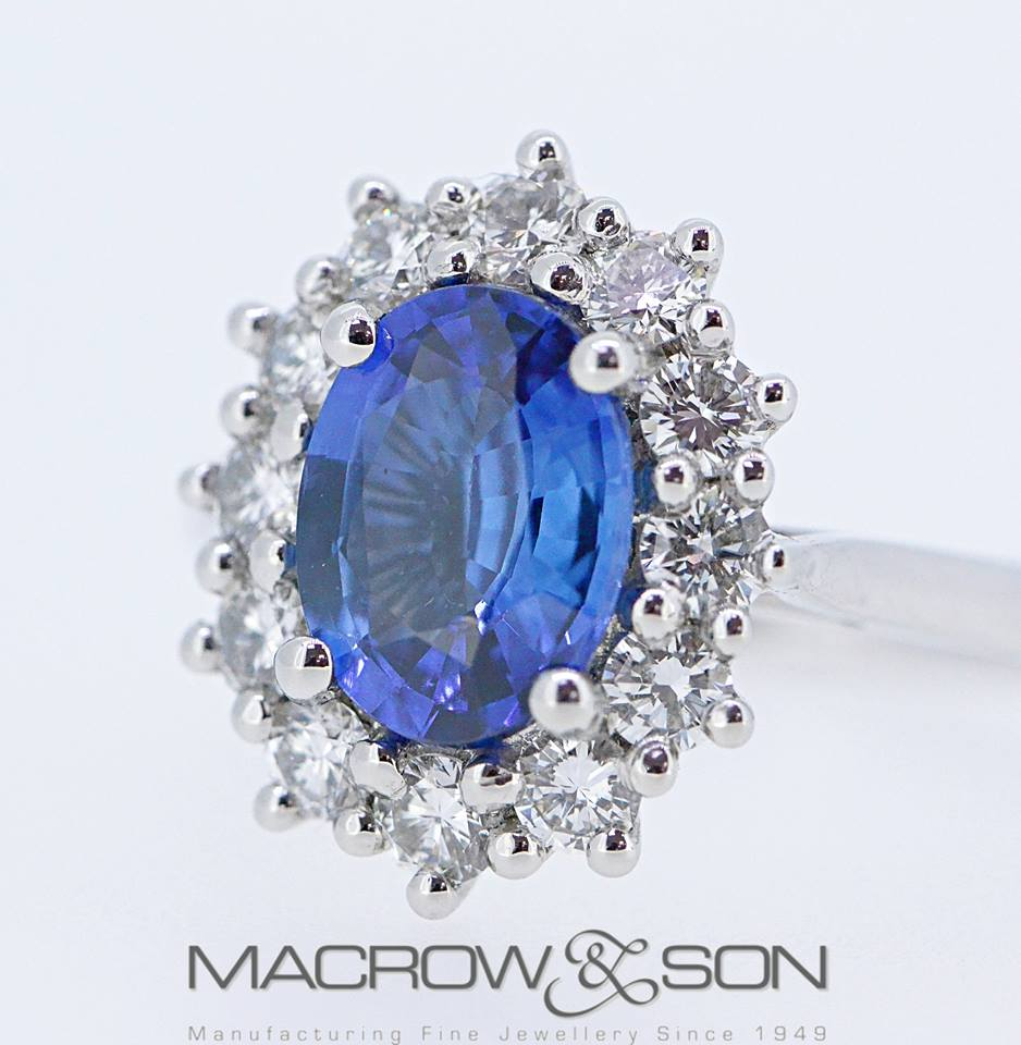Platinum, Sapphire and Diamond dress ring