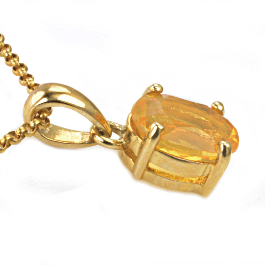 9ct Yellow Gold Citrine Pendant