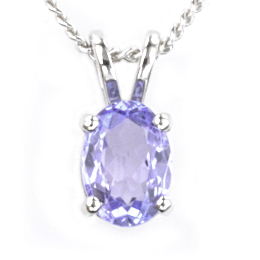 9ct white gold tanzanite pendant macrow and son 9ct white gold tanzanite pendant aloadofball Image collections