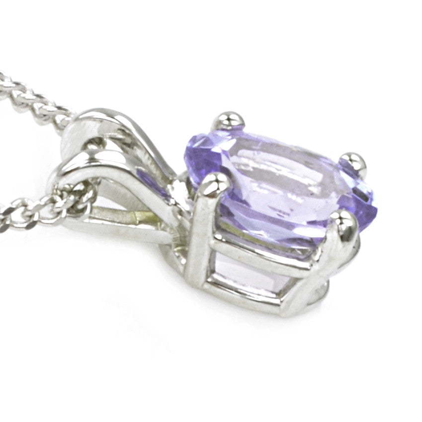 9ct White Gold Tanzanite Pendant