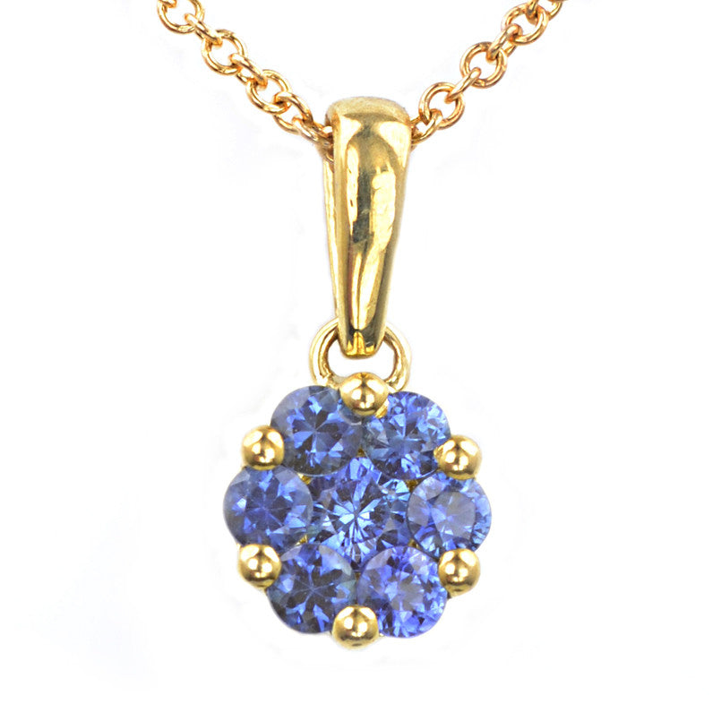 9ct yellow gold sapphire pendant macrow and son 9ct yellow gold sapphire pendant aloadofball Choice Image
