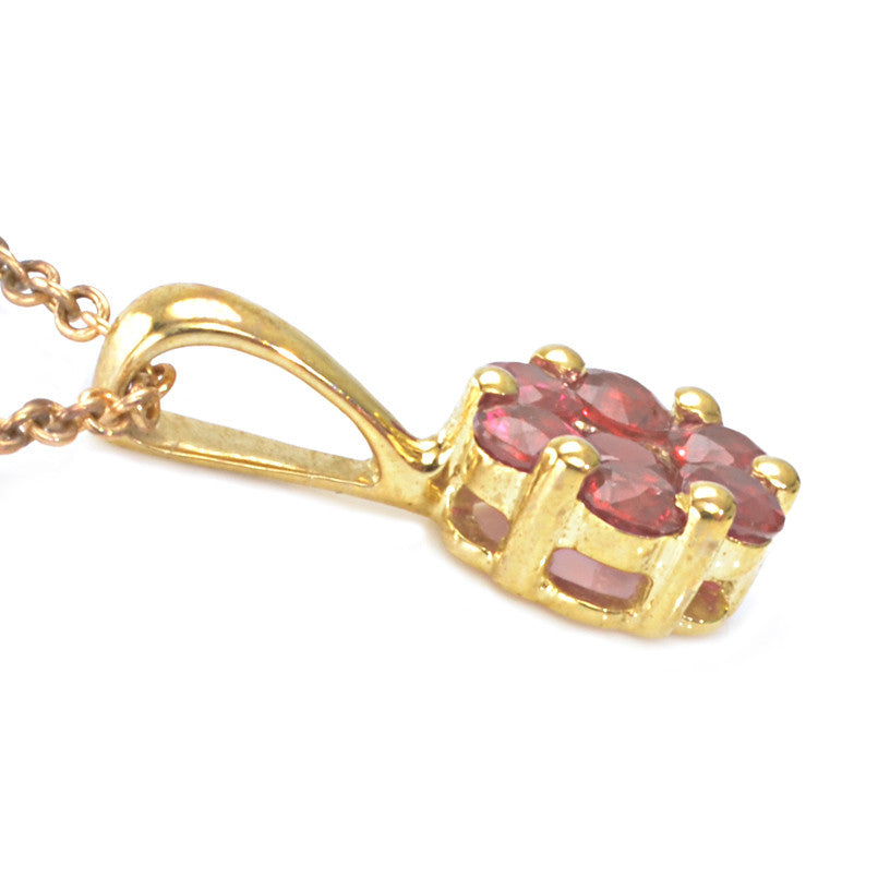 9ct Yellow Gold Ruby Pendant