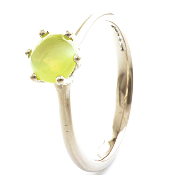 18ct White Gold Chrysoberyl Solitaire
