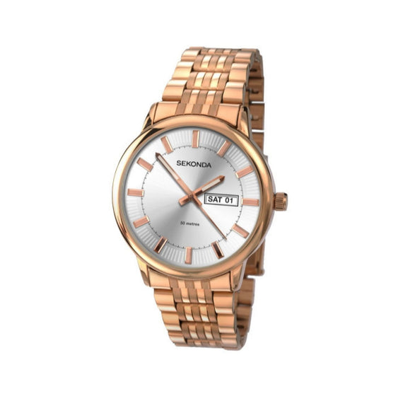 Sekonda Gents Rose Gold Plated Watch