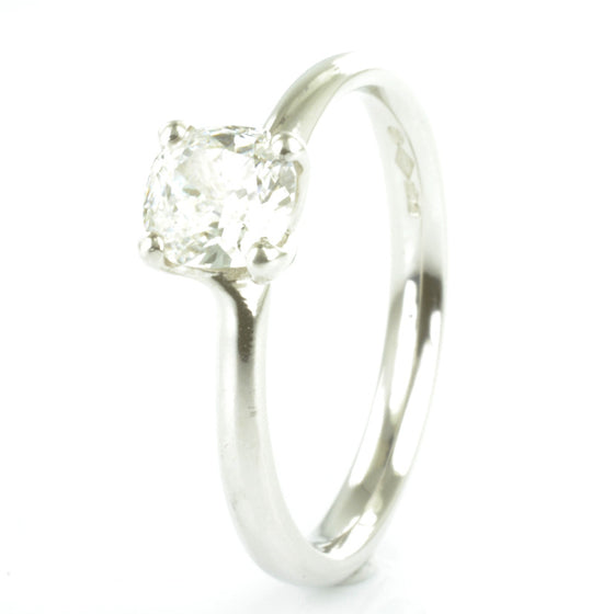 Platinum Cushion Cut Diamond Solitaire
