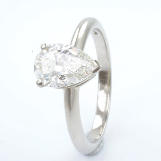 Platinum Pear Shaped Certificated Diamond Solitaire