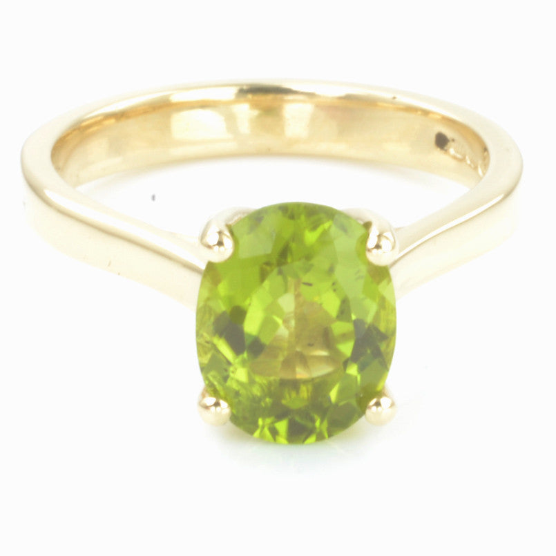 9ct Yellow Gold Peridot Solitaire