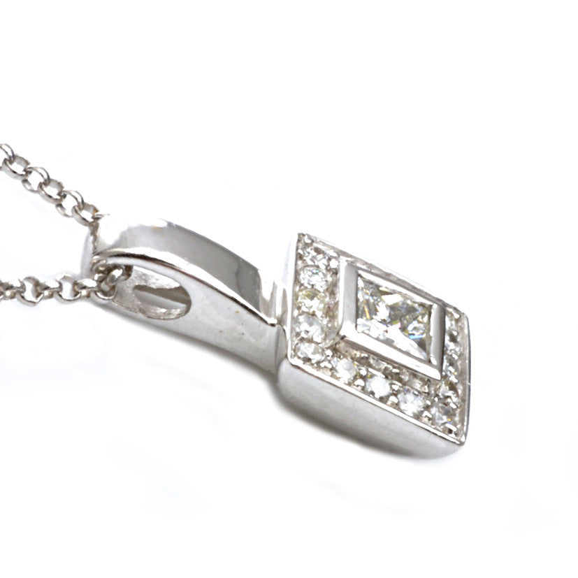 18ct White Gold Diamond Set Pendant