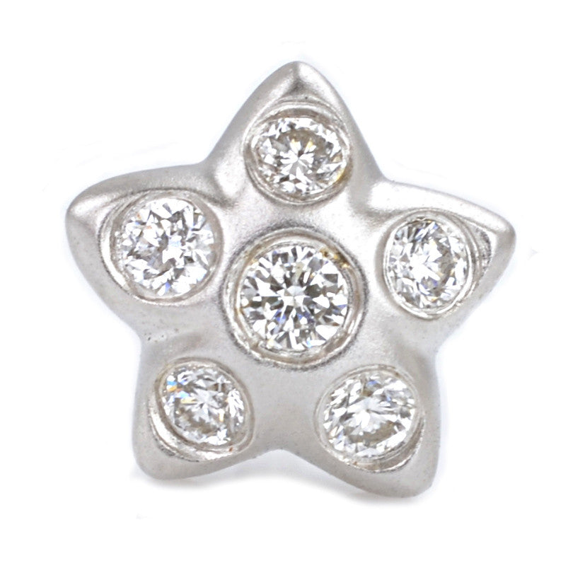 18ct White Gold Diamond Star Ear Studs