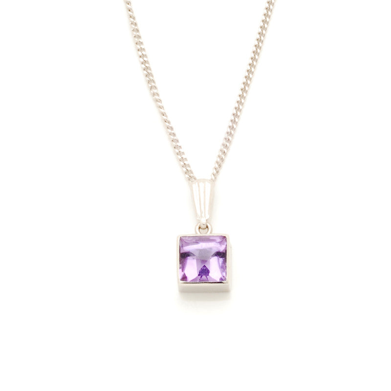 9ct white gold amethyst pendant macrow and son 9ct white gold amethyst pendant mozeypictures Gallery