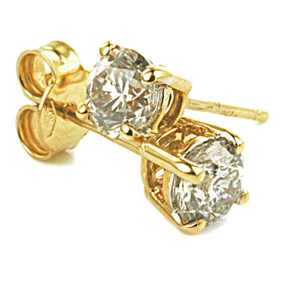 18ct Yellow Gold Diamond Ear Studs