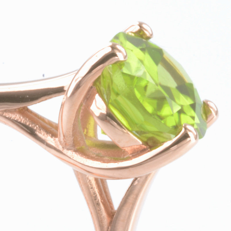 9ct Rose Gold Peridot Ring
