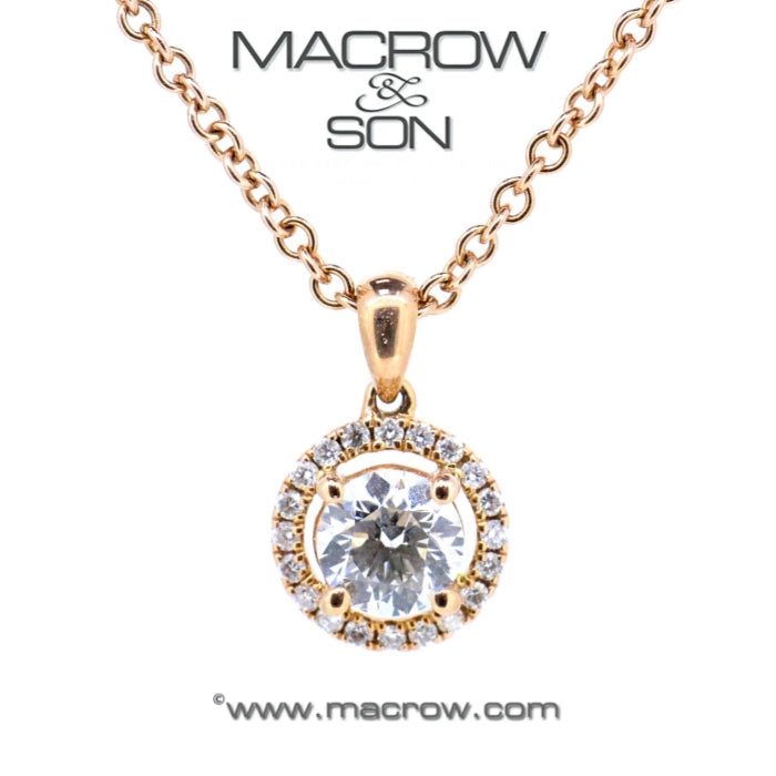 18ct Rose Gold Diamond Pendant