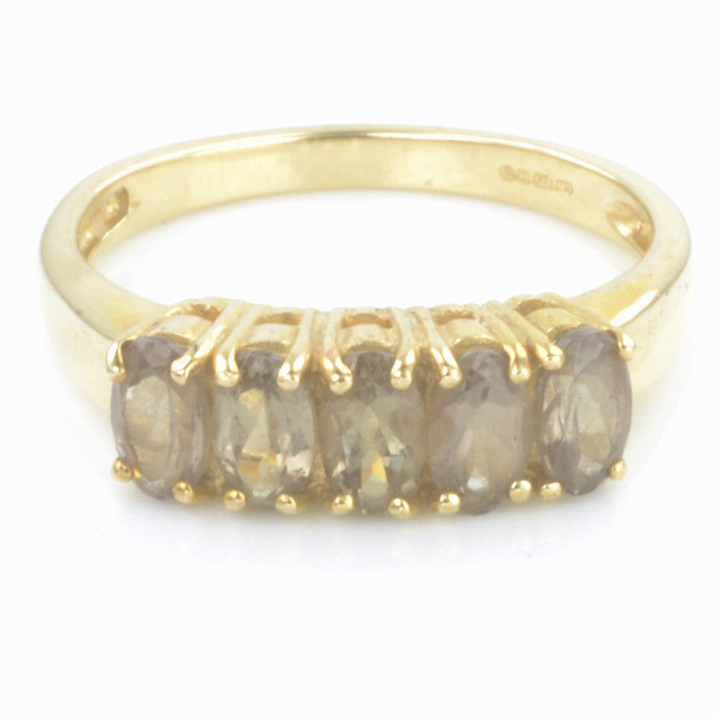 9ct Yellow Gold Smoky Quartz Ring